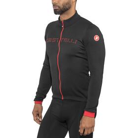 Castelli Fondo Maillot à manches longues avec zip Homme, black/red
